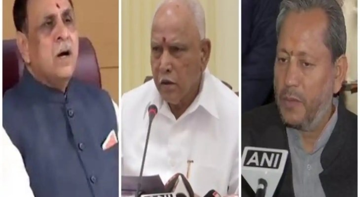 Three CMs of BJP-ruled states resign in less than three months