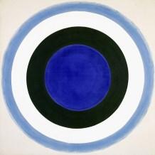 Kenneth Noland, Blue Extent, 1962, acrilico su tela. Collezione privata. © 2016 Foto Scala Firenze