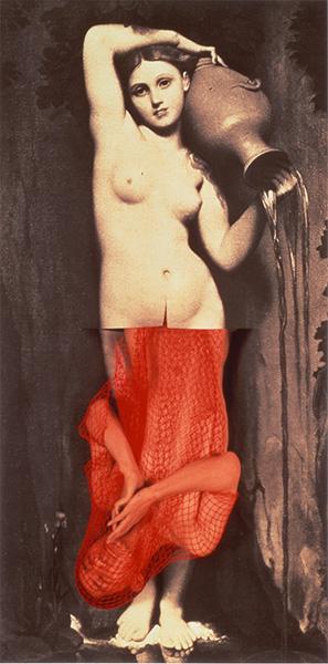 Yasumasa Morimura, Portrait (La Source 1,2,3), 1986-1990, tre pannelli stampati a colori. Takamatsu, Takamatsu Art Museum