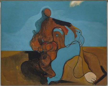 Il bacio (Le Baiser) Max Ernst (Brühl 1891-Parigi 1976), 1927, olio su tela, cm 129 x 161,2. Venezia, Collezione Peggy Guggenheim, 76.2553. Foto di David Heald © Max Ernst, by SIAE 2016
