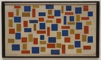 Composizione XI (Kompositie XI) Theo van Doesburg (Utrecht 1883-Davos 1931) 1918, olio su tela con cornice dell'artista, cm 64,6 x 109 (cm 73,2 x 117,8). New York, Museo Solomon R. Guggenheim, 54.1360. Foto di Ellen Labenski