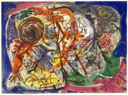 Senza titolo. Jackson Pollock (Cody 1912- East Hampton 1956), 1946 circa, gouache e pastello su carta, cm 58 x 80. Venezia, Collezione Peggy Guggenheim, 76.2553. Foto di David Heald © Pollock-Krasner Foundation / Artists Rights Society, ARS, New York, by SIAE 2016