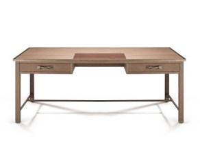 Doe Oak Two-Drawer Desk