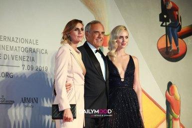 Elisa Amoruso, Alberto Barbera and Chiara Ferragni