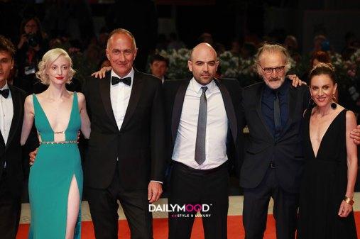 Andrea Riseborough, Stefano Sollima, Roberto Saviano e Adriano Chiaramida