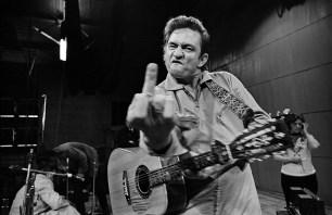 Johnny Cash photographed at San Quinton, CA © Jim Marshall Photography LLC