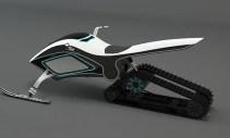 Prototipo de moto de nieve