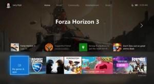 Dashboard Xbox
