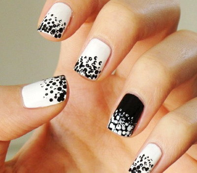 Black And White Bubbles Dailynailart Jpg