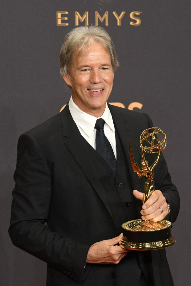 "David E. Kelley won the Emmy award for Outstanding Limited Series, Movie or a Dramatic Special for ""Big Little Lies"" at the 69th Emmy Awards on Sunday, Sept. 17, 2017 at the Microsoft Theater in Los Angeles, California. (Photo by Michael Owen Baker / SCNG)"