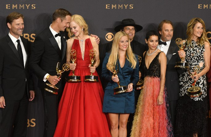 """Big Little Lies"" won the Emmy award for Outstanding Limited Series at the 69th Emmy Awards on Sunday, Sept. 17, 2017 at the Microsoft Theater in Los Angeles, California. (Photo by Michael Owen Baker / SCNG)"