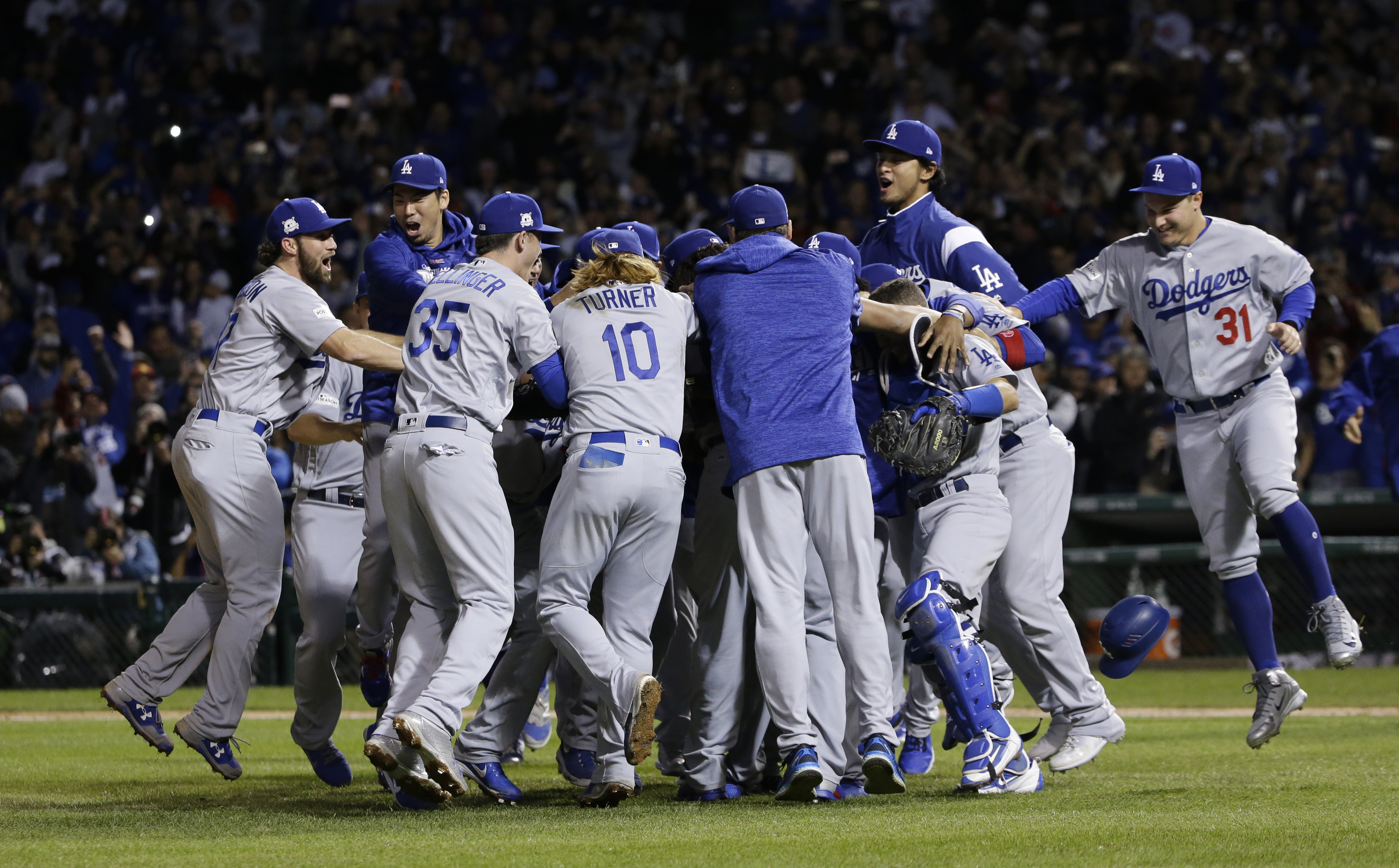 Image result for dodgers win pennant 2017