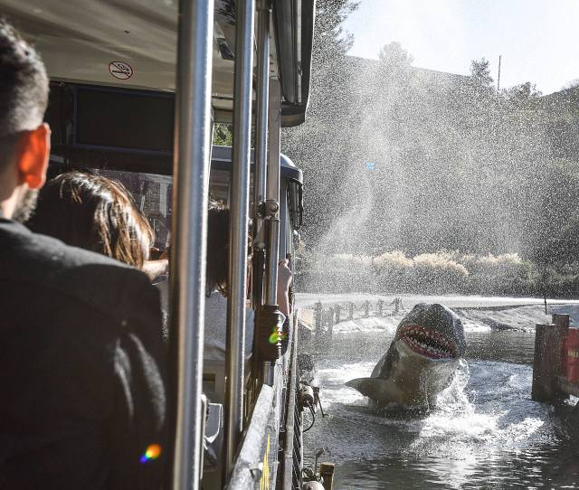 The Studio Tram Tour Visits Bruce The Shark From Jaws At Universal Studios Hollywood In Universal City On Monday Feb 12 2018 Photo By Jeff Gritchen