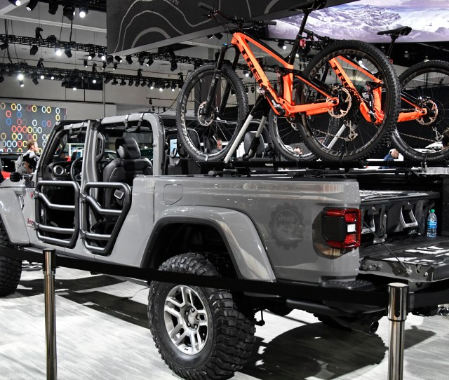 Jeep Shows Their 2020 Gladiator Rubicon A Year Early On Display During The 2018 Los Angeles Auto Show Media Day Wednesday Nov 282018