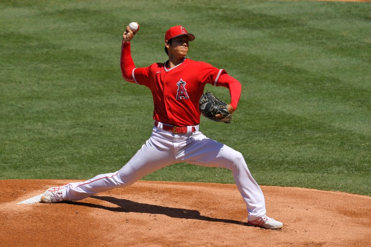 Shohei Ohtani returns to mound in Angels intrasquad game ...