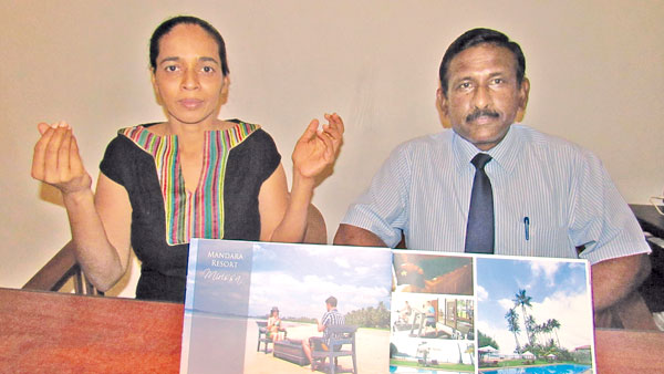 Assistant Manager of the hotel, Ganga Priyadharshani and Assistant Front Office Manager, Damith Ratnayake.