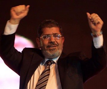 After a week of unofficial claims of victory, Mohamed Morsi is officially declared President of Egypt.
