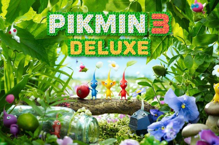 Pikmin 3 Deluxe keyart