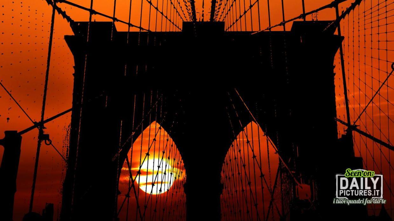 Tramonto sul ponte di Brooklyn - New York
