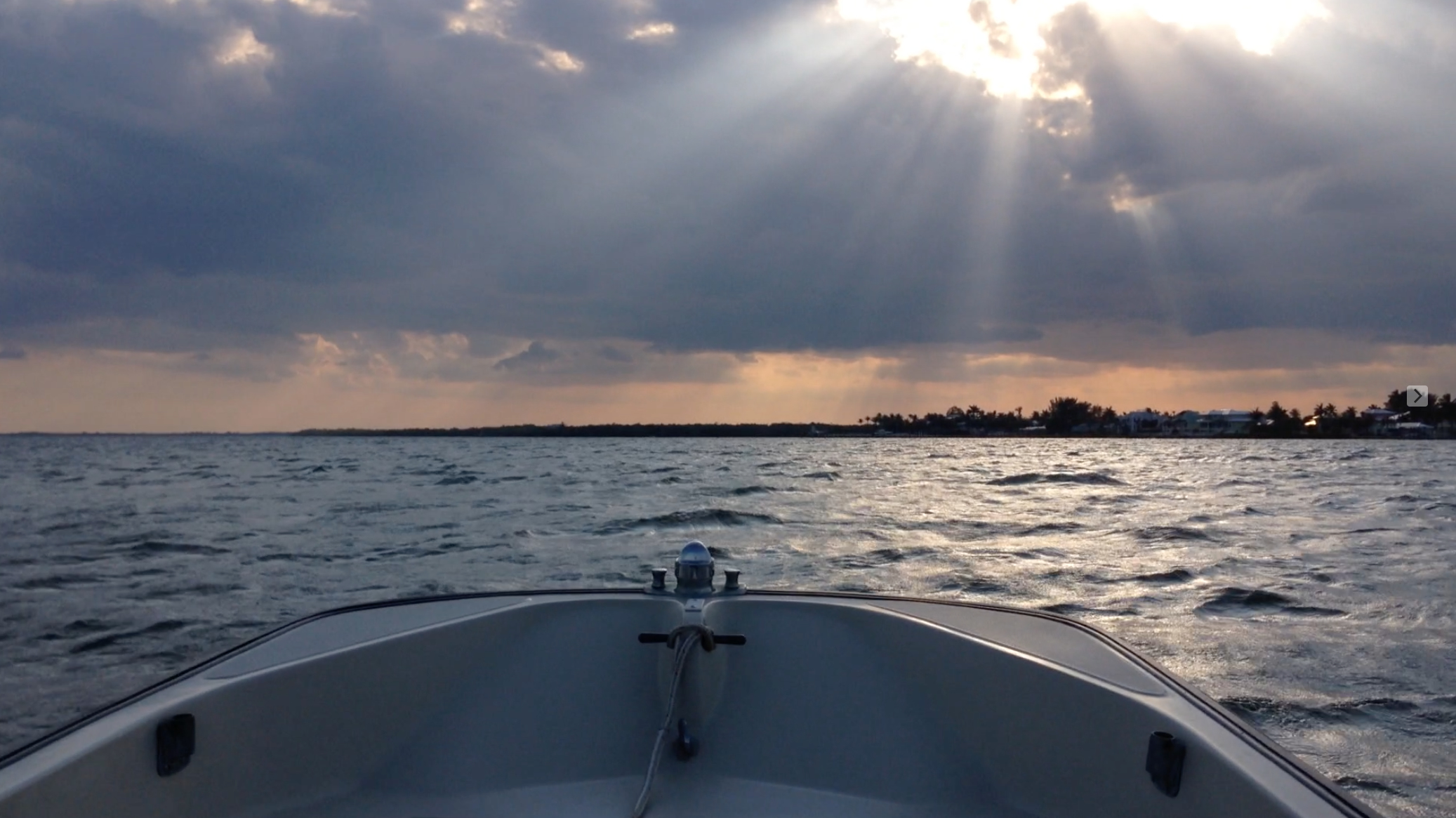 Boston Whaler At Sunset