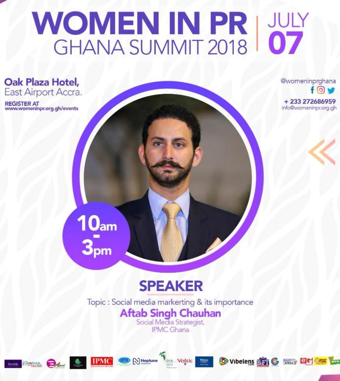 Aftab Singh Chauhan: Speaker at Women in PR Ghana Summit 2018