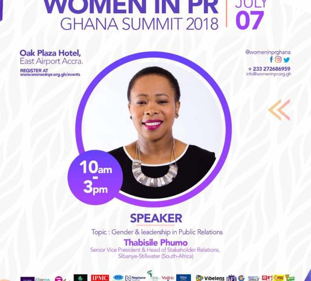 Thabisile Phumo: Speaker at Women in PR Ghana Summit 2018