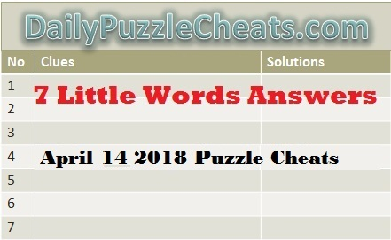 check seven little words daily puzzle solutions april 14 2018