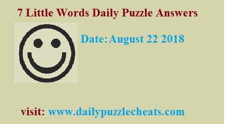 7 Little Words august 22 2018