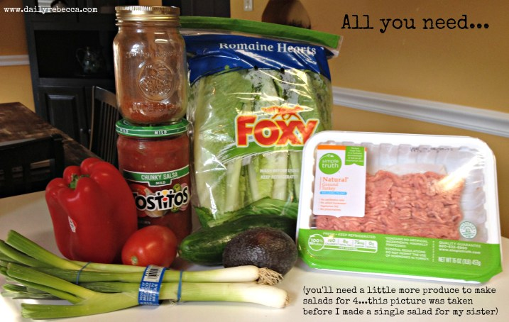 paleo taco salad ingredients