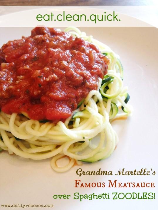 Grandmas Meatsauce & Zoodles