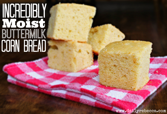 incredibly moist buttermilk cornbread