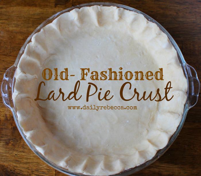 Old Fashioned Lard Pie Crust