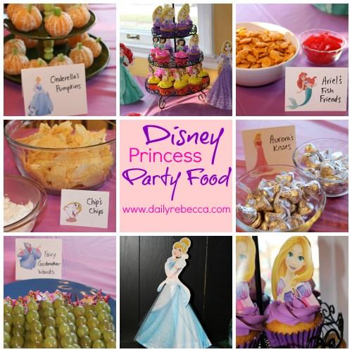 disney princess party collage