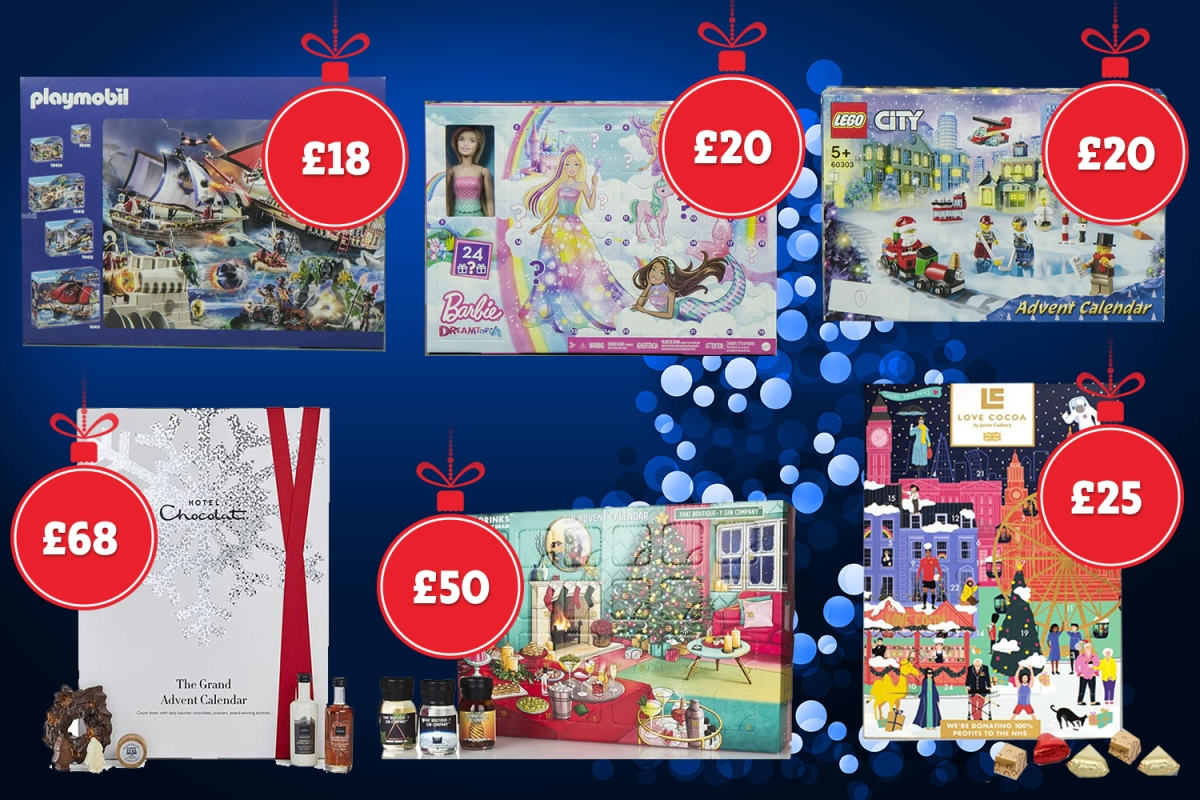 Best luxury Christmas advent calendars including Hotel Chocolat, Barbie and Lego named in Which? test