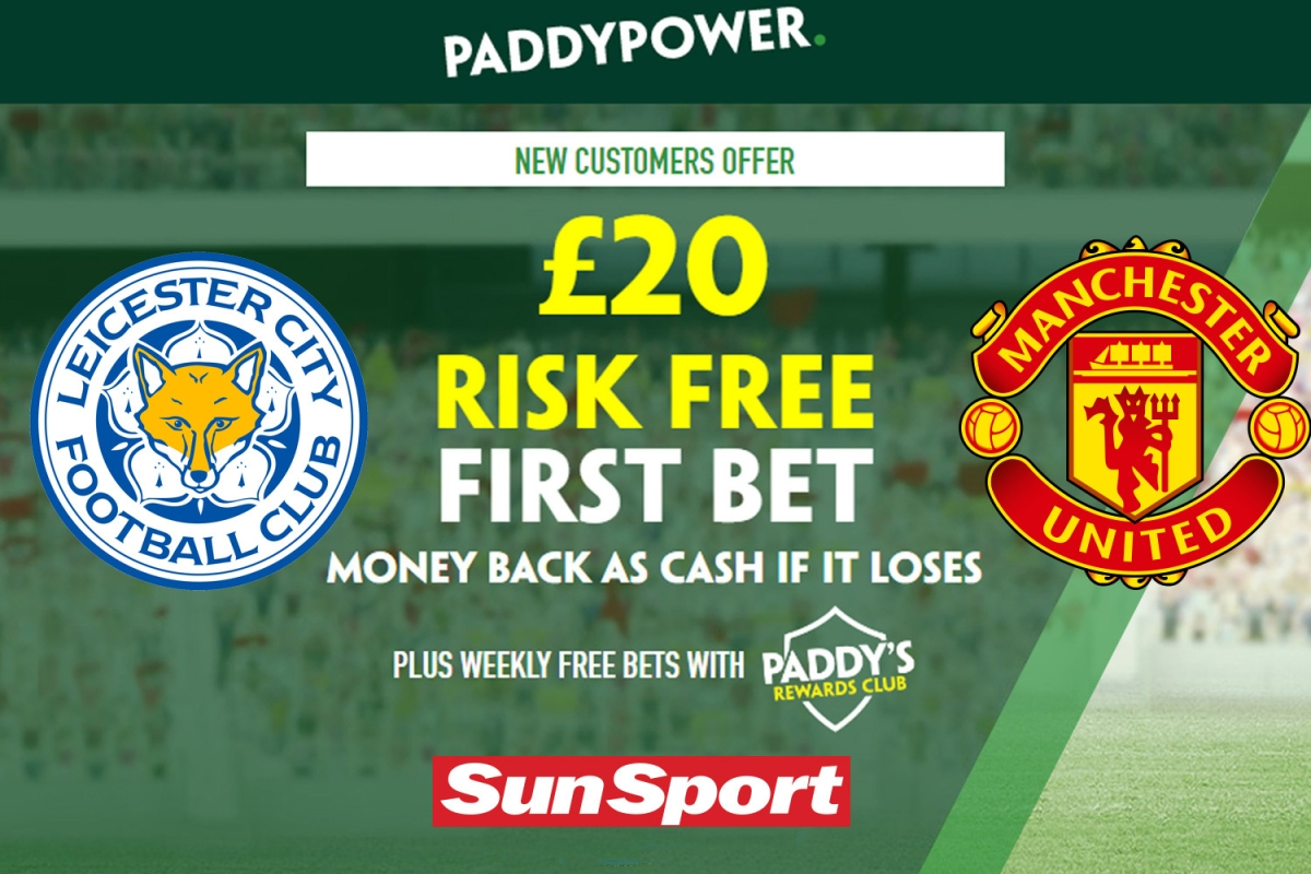 Get £20 risk-free bet on Leicester vs Man Utd, plus 73/1 Cristiano Ronaldo prediction with Paddy Power
