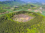 La Garrotxa: The Spanish region containing 40 volcanic cones – and there's a lone church in one