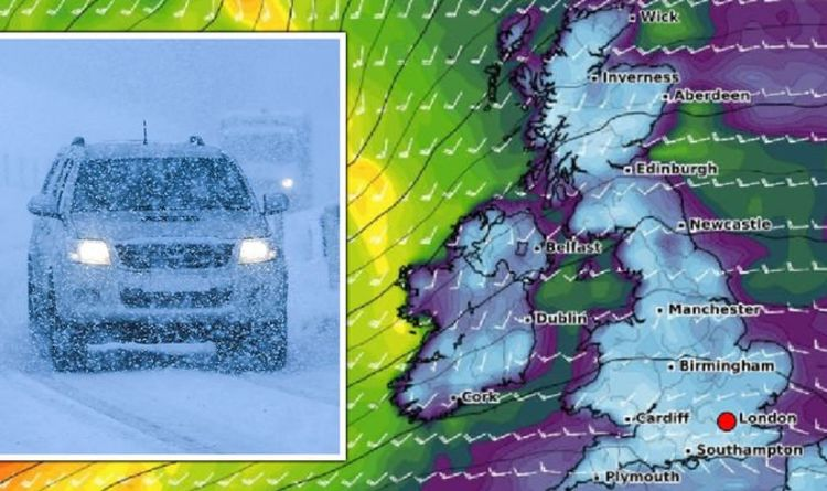 UK cold weather forecast: Snow, frost AND high winds loom as Greenland air mass to strike