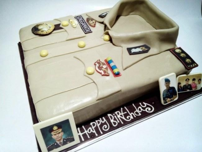 Kue Ulang Tahun Seragam Polisi