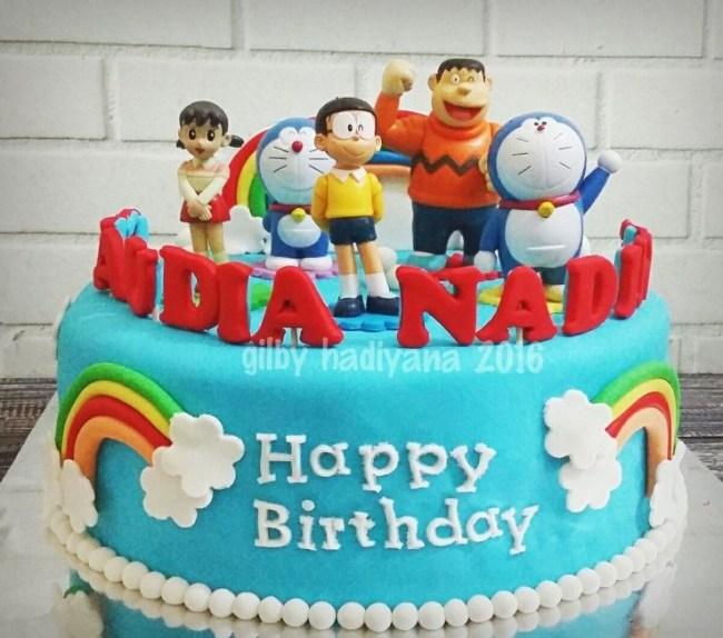 Gambar Kue Kartun Doraemon dan Teman-temannya