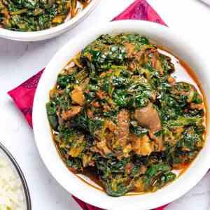 Efo riro/ Vegetable soup