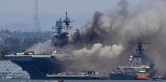 An explosion on a navy ship injures 21 sailors