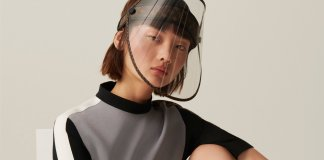 Louis Vuitton is releasing a face shield with golden studs