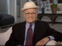 In this video grab issued Sunday, Feb. 28, 2021, by NBC, Norman Lear accepts the Carol Burnett television achievement award at the Golden Globe Awards. (NBC via AP) (2021 NBCUniversal Media, LLC)