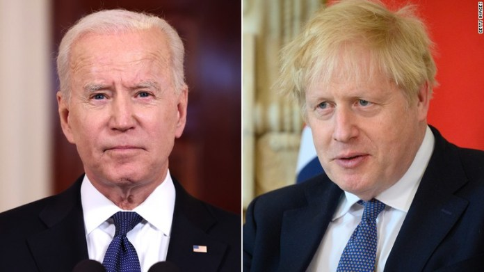 Biden and Johnson expected to commit to lifting US-UK Covid-19 travel restrictions