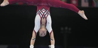 German women's gymnastics team wears full-body suits