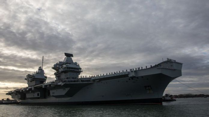 Warship positions faked including UK aircraft carrier