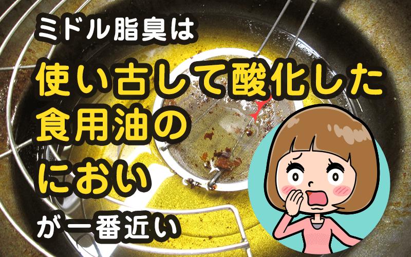 ミドル脂臭は酸化した食用油のにおいが一番近い