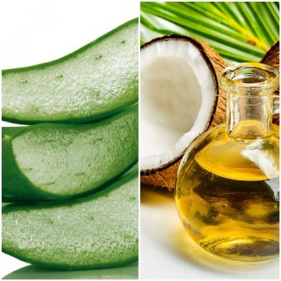 #2 Apply a few drops of coconut oil or aloe vera gel mixed with mineral water before going to bed.