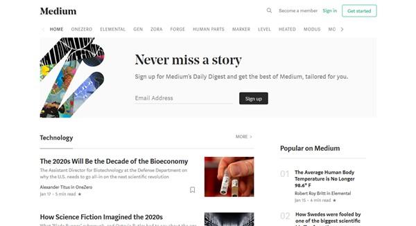 best tech blogs - medium