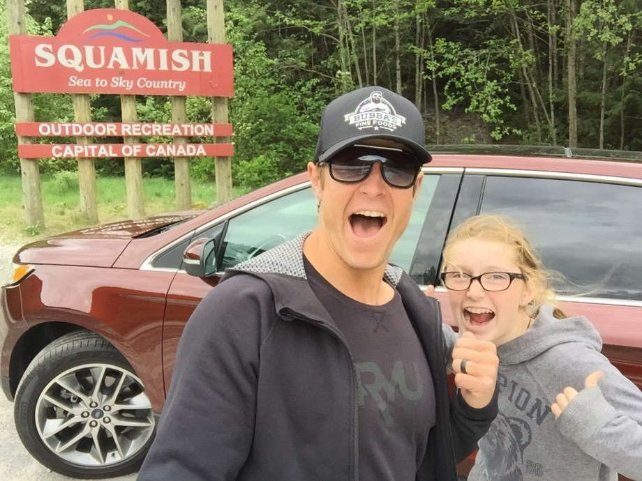 Me and C on the Sea to Sky highway #fordedge